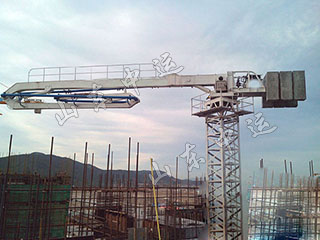 Stationary Hydraulic Concrete Pump Placing Boom