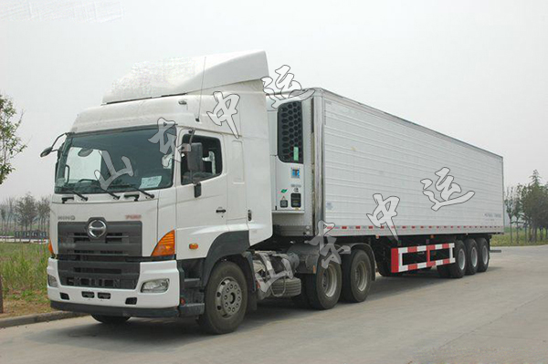 Semi-Trailer Refrigerated Cooling Van Truck