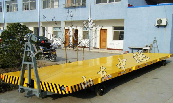 Two-Way Hand Lead Pull Flat Bed Trailer